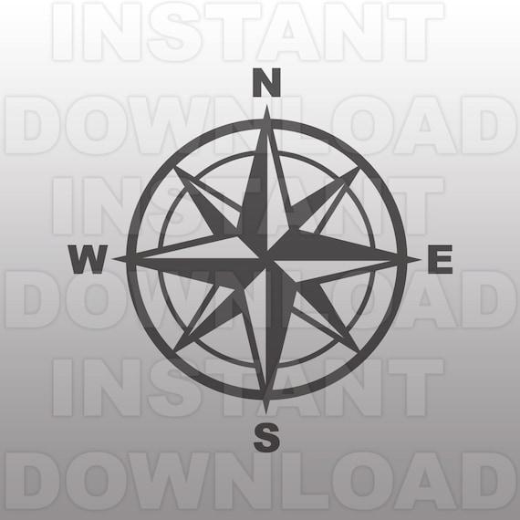 Compass Rose Svg Filecompass Svg Filenautical Svg Vector Cut