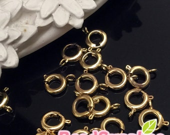 FN-CL-02007 - Gold- plated,  Round clasp, 12 pcs