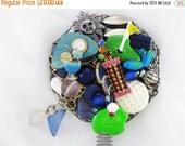 Half Off Sale Hand Mirror - Golfer's Dream - Repurposed Jewelry - M000656