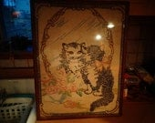 How Sweet is this Kitty in the Mirror Wonderful Cat Sampler Stitchery/Embroidery with Great Colors and Nice. RESERVED FOR DEBBIE