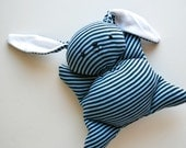 Blue Stripey Mooshy Belly Bunny