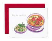 You're the One Pho Me // funny pun valentine love anniversary card