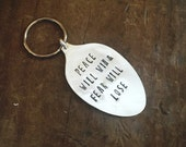 Peace Will Win Keychain