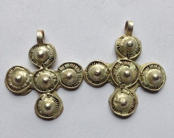 Ethiopian Coptic Cross Pendant, African pendant, pendant, metal pendant, silver pendant