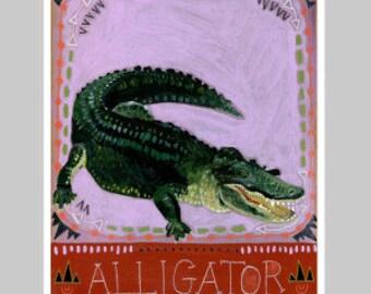 Animal Totem Print - Alligator