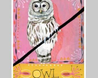 Animal Totem Print - Owl 2