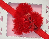 Valentines Infant Headband-Red