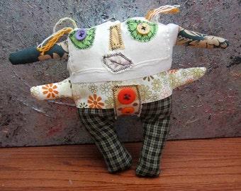 Primitive Folk Art Doll Kelly