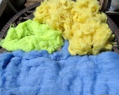 Alpaca fiber to spin, felt, blend ~ Soft lofty Luxury fibers 4.7 oz Loose Fiber and Batts