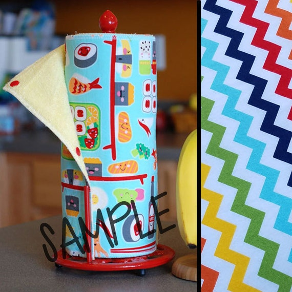 Unpaper Towels | Reusable Paper Towel | Rainbow Chevron Tree Saver Towel | Kitchen Towel | Snapping Cloth Paperless Towel