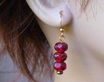 Drops of Cranberry Earrings