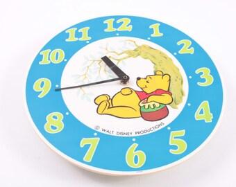 Winnie The Pooh Vintage Clock 1970s Disney