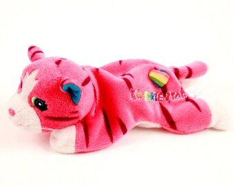 Lisa Frank Vintage Kitten Beanie - HTF - Pink Tiger! (92-L)