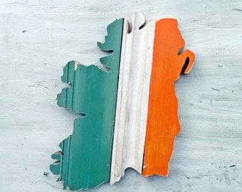 Ireland Wall Art, Irish Decor, Reclaimed Wood Art, Celtic Decor, Wooden Ireland Art, Irish Gift Celtic Home Decor, Wood Wall Art Boho Decor