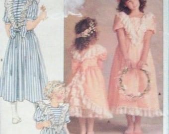 40% OFF SALE Childs Sewing Pattern Butterick 4768 Children's Dress Pattern Size 5