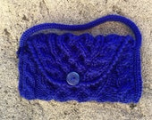 Knit Cell Phone Purse with Strap - Smartphone Cozy Case