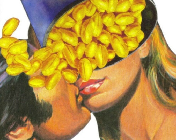 Funny Romance Art Collage, Nutty Artwork, Nuts About You