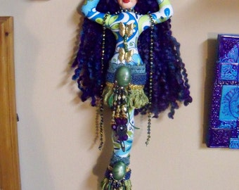 Ooak CHERISH the one you LOVE Goddess cloth art doll 12 in. tall Fantasy