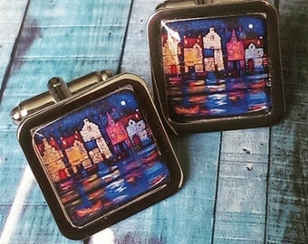 Harbourside By Night Cufflinks