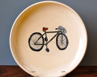 Green Bicycle Plate
