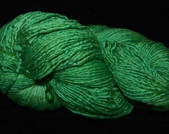 Merino-Silk Worsted Single - Large Hank - Emerald Forest