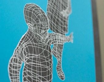 Wander --- Color Screen Print 13x19
