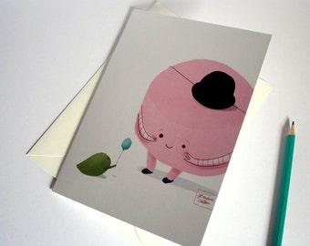 Sweet marshmallow - Large greeting card with envelope