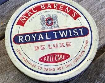 Vintage Mac Baren's Royal Twirst Deluxe Roll Cake High Class smoking tobacco