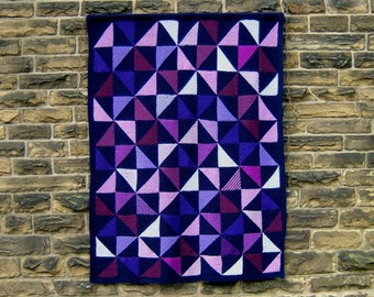 Tilting at Windmills - PDF pattern for knitted afghan/wall-hanging