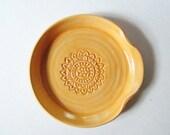 Spoon Rest - Ladle Rest - Glazed in Sunshine Orange - Ready to ship, Handmade studio pottery