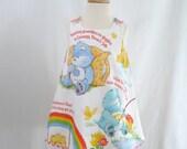 Care Bears Girls Dress, Care Bears Toddler Dress  - 80s cartoon -  Baby Dress, Toddler Dress, Girls Dress - Sizes 6 - 12 Months to Girls 4T