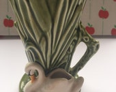 Cute swan Sylvac mini vase