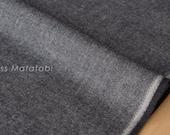 Japanese Fabric Yarn Dyed Brushed Twill - charcoal - 50cm