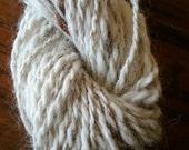 Herman alpaca, handspun sweater yarn, natural white and brown colour,