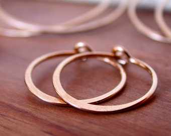 Round Hoop Earrings. Tiny Hoop Earrings. Medium Hoop Earrings. Large Round Hoops. Pick Your Size.