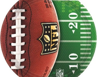 NFL Football Dinner Plates-8 Count-NEW-10.5 in round