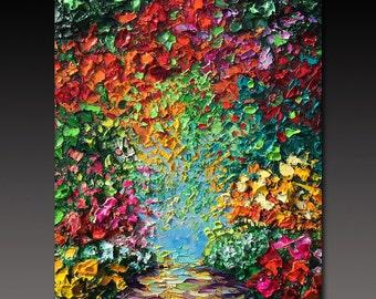 Oil Painting Secret Garden ART Romantic  B. Sasik Original Oil Painting