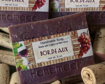 Bordeaux Wine Handmade Cold Process Soap