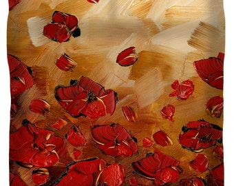 duvet cover floral queen king full twin modern art duvet covers in golden brown red poppies art bedroom home decor by susanna