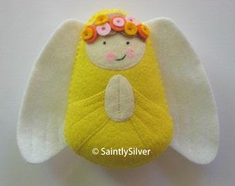 Guardian Angel with Flowers Felt Softie
