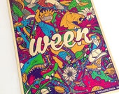 Ween Philadelphia Boognish VIP Gigposter Cream Poster by GIGART