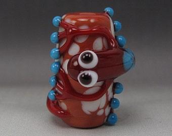 Handmade Lampwork Glass Lizard Focal Bead by Jason Powers SRA