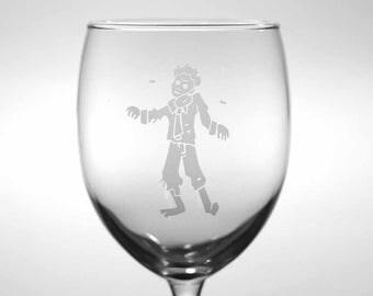 Zombie Wine Glass - Horror wedding