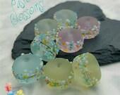 Lampwork Beads Pastel Blossom Mix