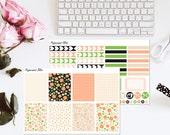 Vintage floral Planner Sticker Kit Erin Condren Vertical Stickers