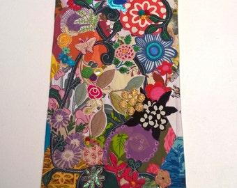 Flower Garden - Stunning Textile Art Wall Hanging
