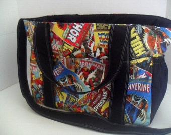 Marvel Diaper Bag - Super Hero diaper Bag - Extra Large Diaper Bag - Diaper Bag - Marvel - Super Hero - Messenger Bag - Marvel Bag