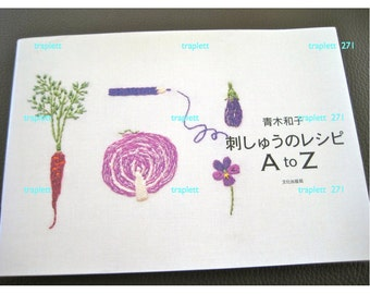 Japanese Craft Pattern Book  Embroidery Kazuko Aoki