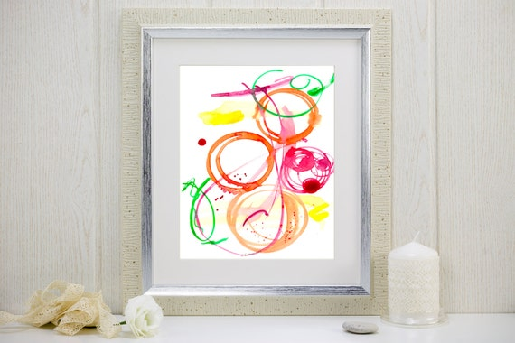 "Watercolor art print, music-inspired: ""Jazz Ensemble"""