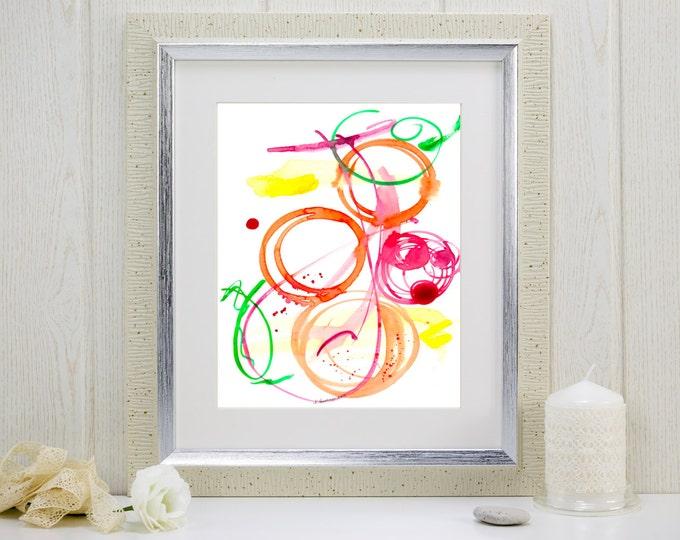 "Watercolor art print, music-inspired: ""Jazz Ensemble"""